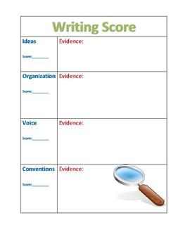 Peer Evaluation Writing Evidence Sheet