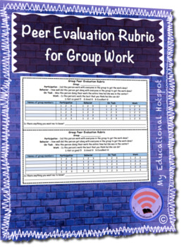 Peer Evaluation Rubric for Group Work