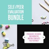 Peer Evaluation Sheets Bundle