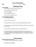 Peer Evaluation in the Chorus Classroom