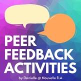 Peer Feedback Activities