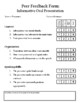 Peer Feedback Form for Informative Oral Presentations