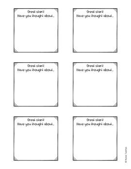 Student Feedback Notes (Sticky Notes Templates)