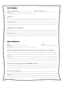 Peer Feedback and Self-Assessment