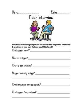 Peer Interview