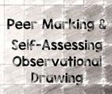 Peer Marking & Self Assessing Observational Drawing