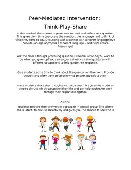 Peer-Mediated Intervention: Think-Play-Share