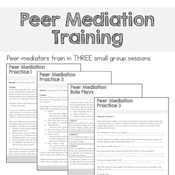 Peer Mediation & Conflict Resolution