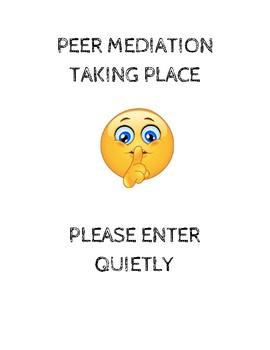 Peer Mediation Poster