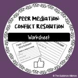 Peer Mediation Worksheet / Peer Conflict Worksheet! For Students