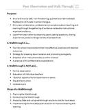 Peer Observation Description and Walk Through Form