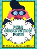 Peer Observation Form