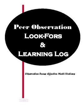 Peer Observation Resources-Effective Math Stations
