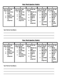 Peer Participation Rubric
