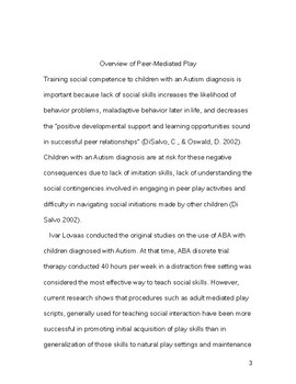 Peer Play Group Program Manual (Project P.A.L.)