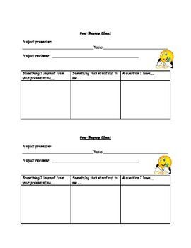 Peer Presentation Feedback Form
