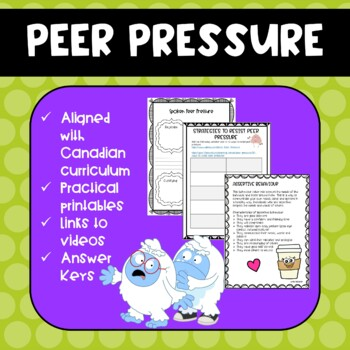 Peer Pressure Grade 7 Health Unit***NEW***
