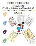 Peer Pressure/Bullies:Problem Solving and Social Skills Worksheets and Task Card