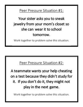 Peer Pressure Situation Cards