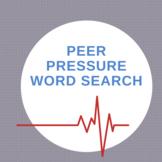 Peer Pressure Word Search