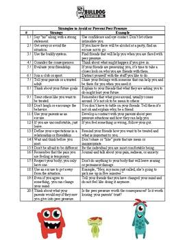 Peer Pressure Worksheet by Bulldog Solution   Teachers Pay ...