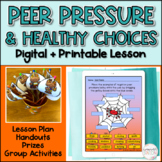 Red Ribbon Week Peer Pressure Lesson (Grades 4-6) with Pri