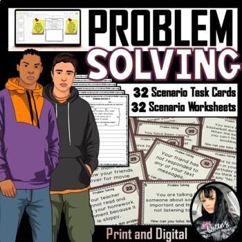 Peer Pressure and Problem Solving Task Cards and Worksheet BUNDLE