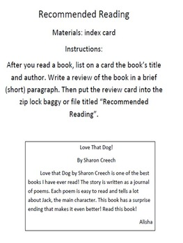Peer Reading Recommendations