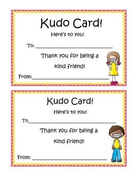 Peer Recognition Awards: Kudo Cards!