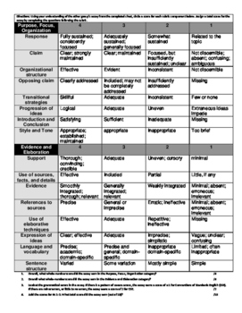 Peer Review - Argumentation Structure