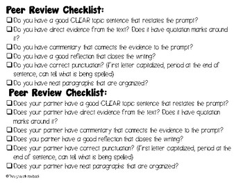 Peer Review Checklist