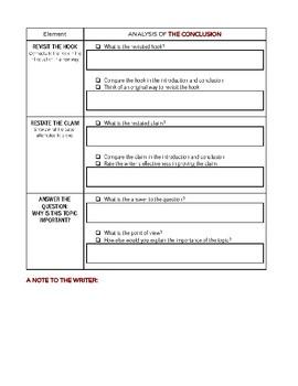 Peer Review - Essay Writing