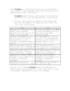 Peer Review For Essay Writing Differentiated Task Cards