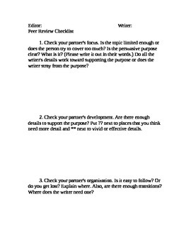 Peer Review Handout
