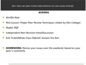 Peer Review How-To Lesson: Argumentative Writing