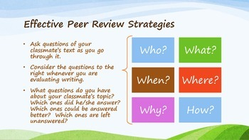 Peer Review Packet: Presentation, Notes, & Classroom Forms