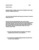Peer Review Questions/Handout for Analytical or Persuasive Essay Writing