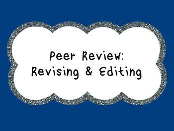 Peer Review: Revising & Editing Sheets