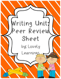 Peer Review Sheet