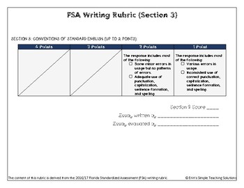 Peer-Review Standardized Writing Rubric