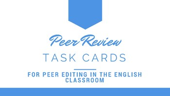Peer Review Task Cards