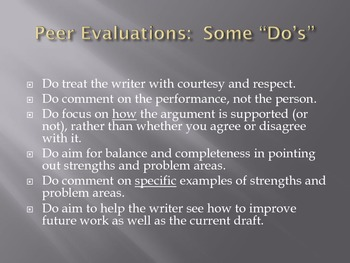 Peer Review:  The How and Why in the Common Core