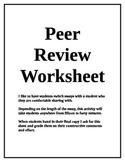 Peer Review Worksheet for a Persuasive Essay