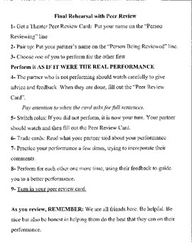 Peer Review for Student Performances
