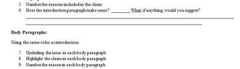 Peer Review of Argumentative Writing