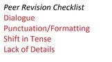 Peer Revision Checklist