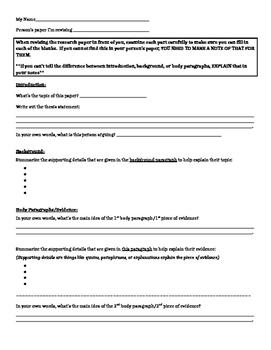 Peer Revision Questionnaire