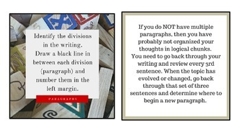 Literacy-Writing Peer Revision Task Cards with Self-Editing Strategies
