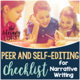 Peer & Self Editing Checklist for Writing Narrative