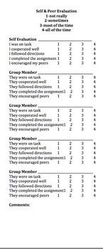 Peer & Self Evaluation Form